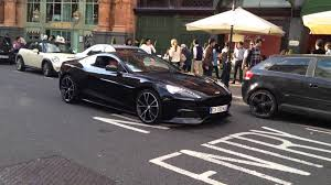 matte black aston martin aston martin vanquish in black in london youtube