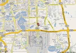 Comfort Inn Mccoy Rd Orlando Fl Map Of Hampton Inn Orlando International Airport Orlando