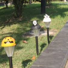 2 packed halloween solar lawn light pumpkin ghost outdoor sales