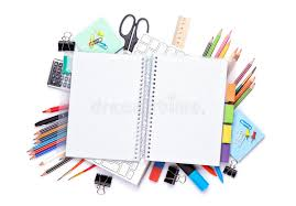 bloc note sur bureau bloc notes vide au dessus des fournitures de bureau d école et sur