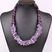 amethyst stone necklace images Fashion handmade natural green aventurine tiger stone amethyst jpg