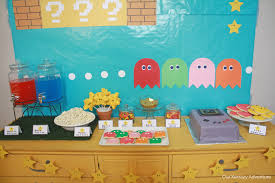 interior design cool video game themed birthday party