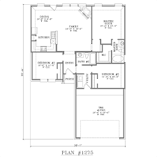 Open Floor Plan Homes One Story House Plans With Open Concept Plan 1275 Floor Plan