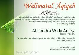 contoh undangan aqiqah bisa di edit jasa aqiqah depok paket