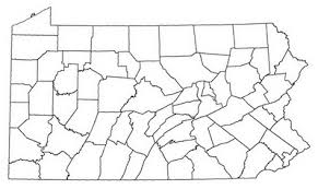 map of counties in pa pennsylvania county maps