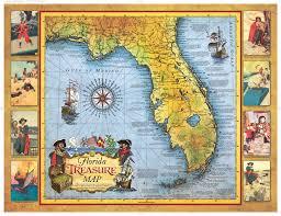 Map Of Flordia Florida Treasure Map Historic Print U0026 Map Company