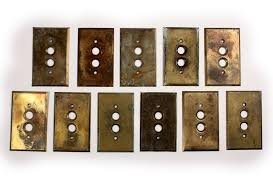 custom light switch covers antique brass push button light switch plate covers preservation for