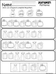 this is a free thanksgiving pattern worksheet for kindergarten or