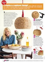 Make Your Own Pendant Light Kit Diy Basket Pendant In Redbook Emily Henderson