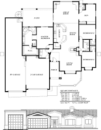 house plans with garage on side narrow house plans rear entry garage craftsman side lot floor