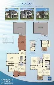 Single Family Homes Floor Plans by Minto Homes Laureate Park Model Homes Lake Nona