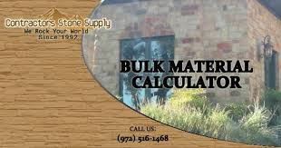 How To Calculate Cubic Yards Of Gravel Bulk Material Calculator Contractors Stone Supply