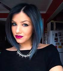 18 beautiful blue ombre colors and styles curly lob lob hair