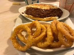 Chili dog and onion rings Picture of Jody s Restaurant Rockford