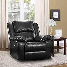 amazon com bonded leather rocker and swivel recliner living room