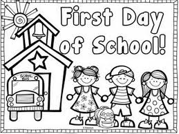 first day of coloring pages for kindergarten coloring