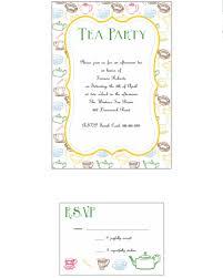 12 printable afternoon tea invitation templates download