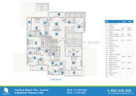Quad Plex Plans by Floor Plan Of Saadiyat Beach Villas Saadiyat Island
