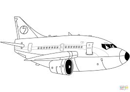 cartoon airliner coloring page free printable coloring pages