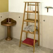 bathroom fantastic wall ladder shelf for your rooms guest
