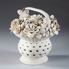 basket of flowers a continental biscuit porcelain model of a basket of flowers