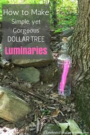 how to make simple yet gorgeous dollar tree luminaries celebrate