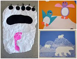 tippytoe crafts polar animal crafts