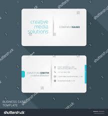Flat Design Business Card Modern Creative Business Card Template Flat Stock Vector 400996708