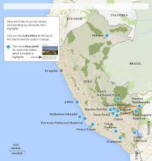 peru on map peru highlights itineraries responsible travel guide to peru s