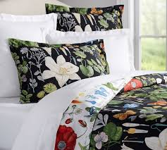 Poppy Bedding Poppy Botanical Reversible Duvet Cover U0026 Sham Pottery Barn