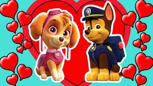 paw patrol chase skye love 2017 coloring kids hd