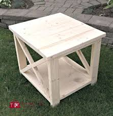Wooden Crate Nightstand Side Table Outdoor Furniture Side Table Best Rustic Tables Ideas