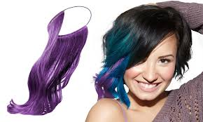 demi lovato hair extensions 2 pack secret color extension band by demi lovato groupon
