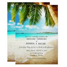wedding invitations island island wedding invitations announcements zazzle