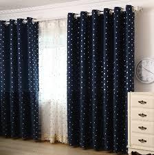 Navy Curtain Navy Blackout Polka Dot Curtains
