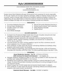 Salon Manager Resume Best Brand Manager Resume Example Livecareer