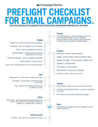 email campaign preflight checklist use this before you push send