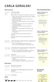 Secretary Sample Resume by Paralegal Resume Example Job Resume Paralegal Cover Letter Sample