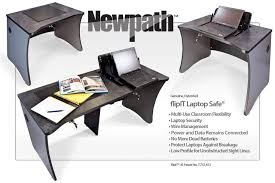 Laptop Desk With Speakers Newpath Laptop Desks For Laptop Classrooms