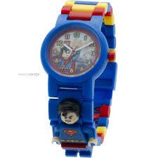 childrens lego dc super heroes superman minifigure link watch