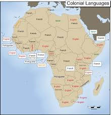 colonial map map 2 colonial languages exploring africa
