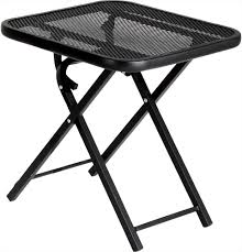 Folding Patio Side Table Folding Metal Patio Table Special Offers Easti Zeast