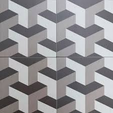 Floor Tile Patterns Cubic Geometric 3d Style Floor Tiles Encaustic Look Porcelain