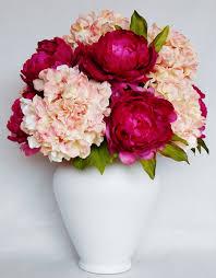 artificial flower arrangement fuchsia peonies pink hydrangea