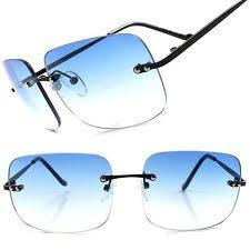 mens light tint sunglasses mens rimless sunglasses ebay