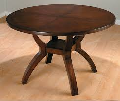 modern expandable round mahogany dining table with storage for