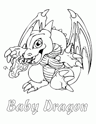 baby dragon character on yugioh anime character coloring pages
