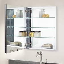 Bernstein Recessed Deco Aluminum Medicine Cabinet Bathroom - Recessed medicine cabinet rough opening