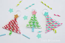 tree ornaments decorative paper straw christmas tree ornaments