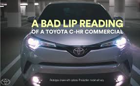 toyota enlists bad lip reading for a series of commercials